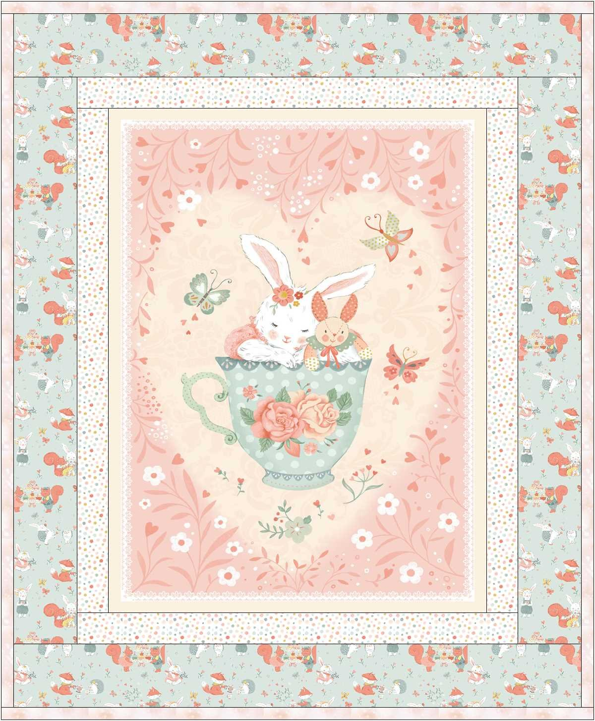 Woodland Tea Panel Quilt Kit