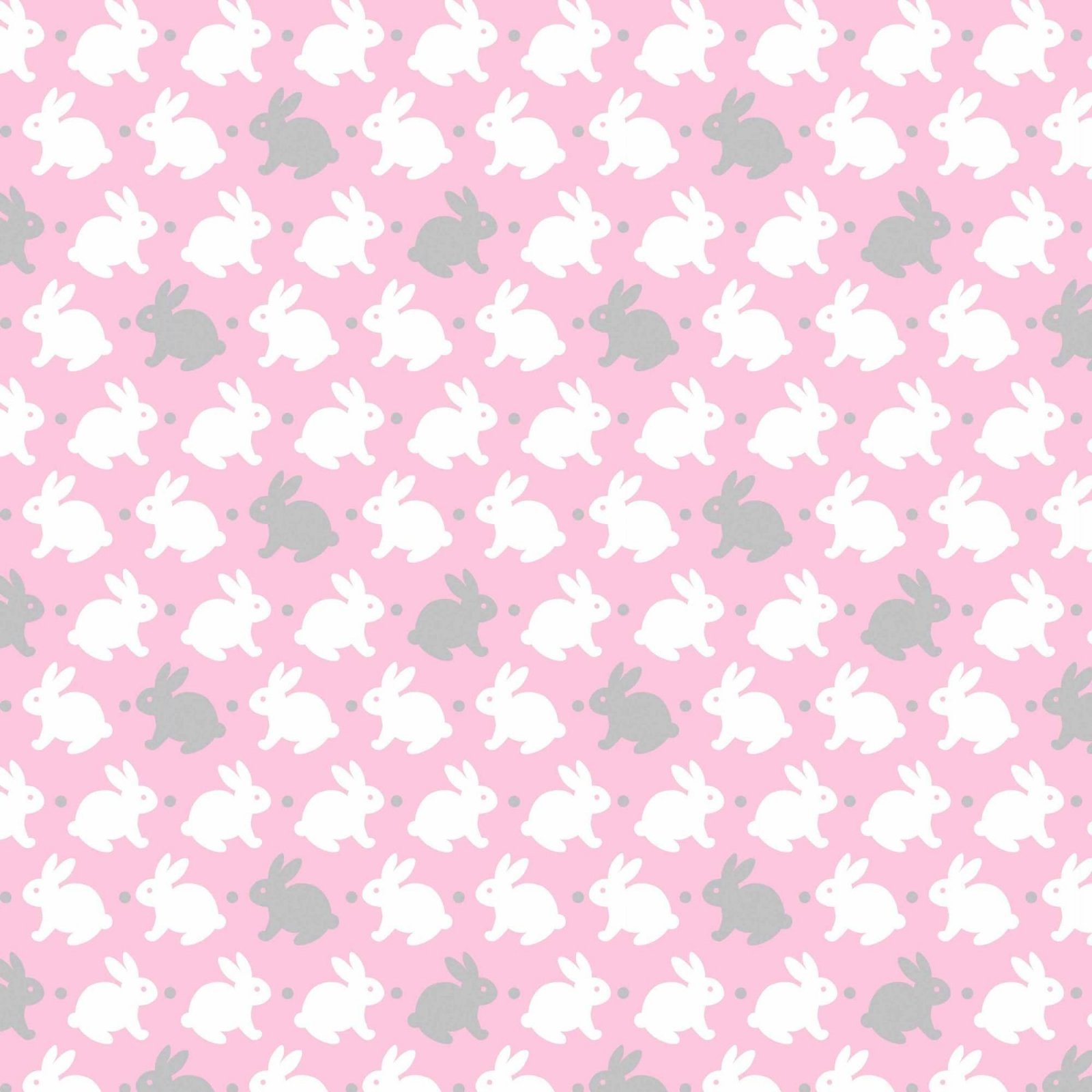 Flannel-Bedtime Bunny                                                              Pink /Gray