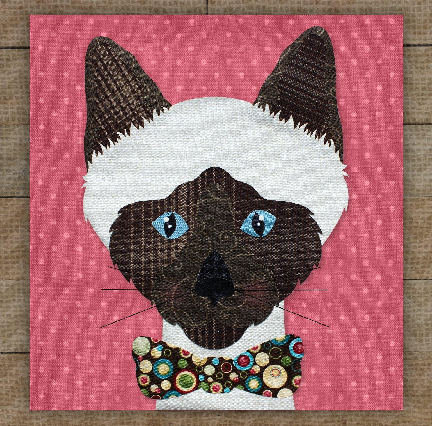 Siamese Cat Applique Pattern