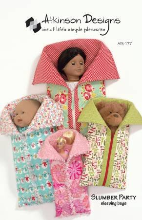 Atkinson Designs Slumber Party Doll  Sleeping Bags