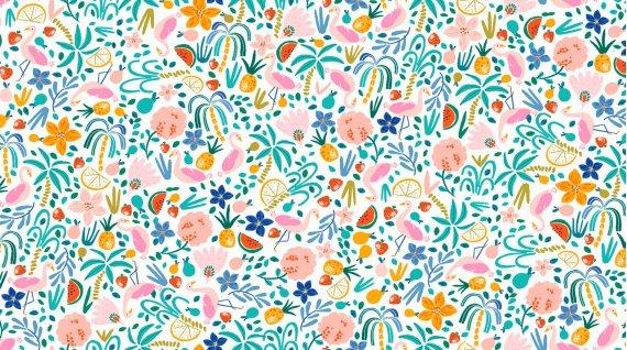 Dear Stella 1260-White Floral
