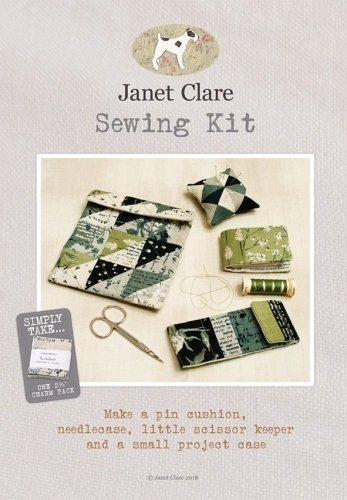 Sewing Kit Pattern with Fabric