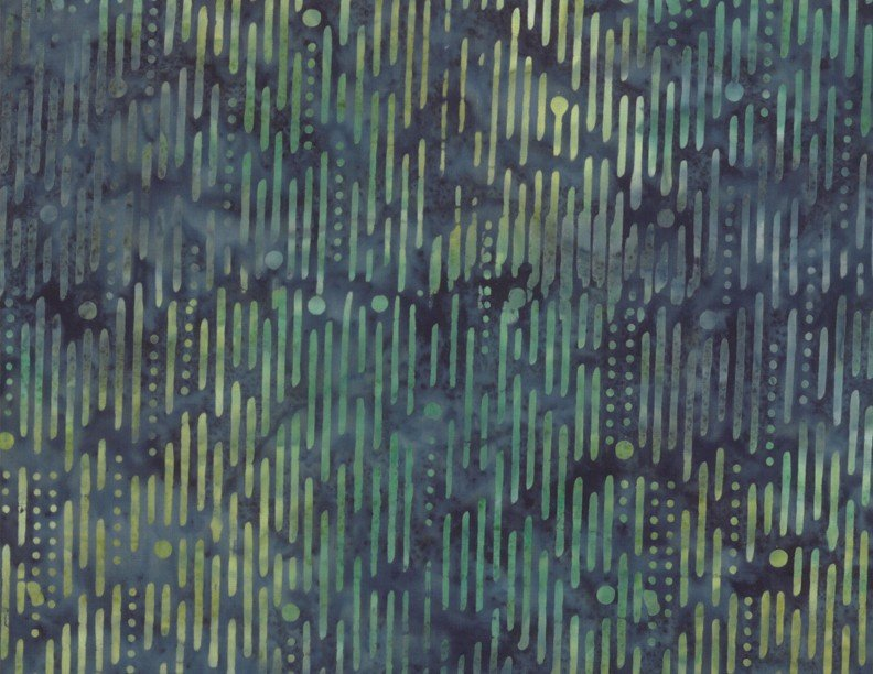 Ikat Blue/Green - Wilmington Batiks