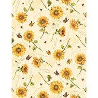 Follow The Sun Tossed Sunflowers Cream