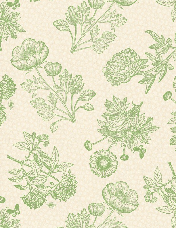 Flower Show Toile Ivory