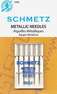 SCHMETZ METALLIC 80/12 NEEDLE 5/pkg