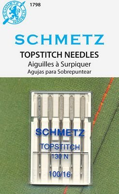 SCHMETZ TOPSTITCH 100/16 NEEDLE 5/pkg