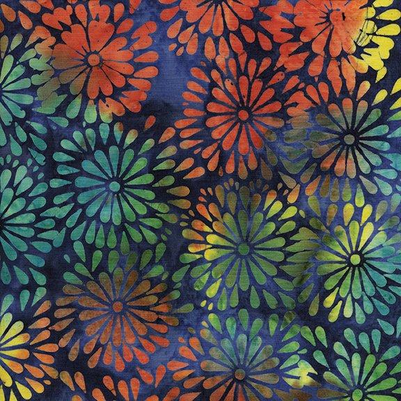Round Petal Floral - Ocean