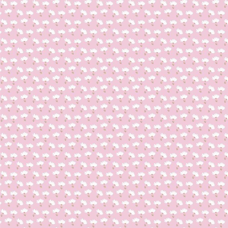 Playful Cuties 14639 Pink Flower Toss