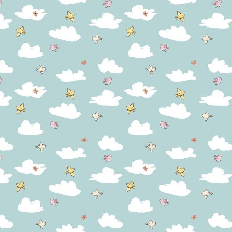 Playful Cuties 14640 Blue Clouds