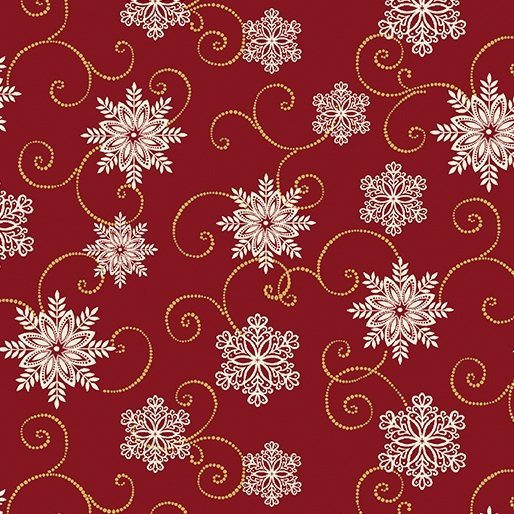 2655M-10 Red with Snowflakes