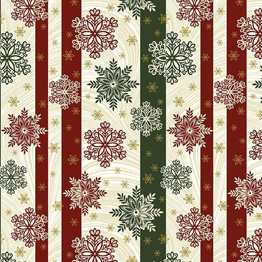 2655M-42 Stripes w/ Snowflakes