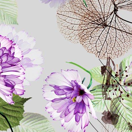Emma 27455-K Large Floral - Gray