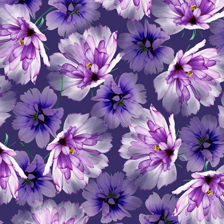 Emma 27356-V Tossed Flowers - Violet