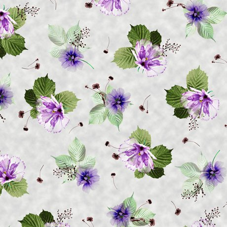 Emma 27357-K Spaced Floral - Light Gray