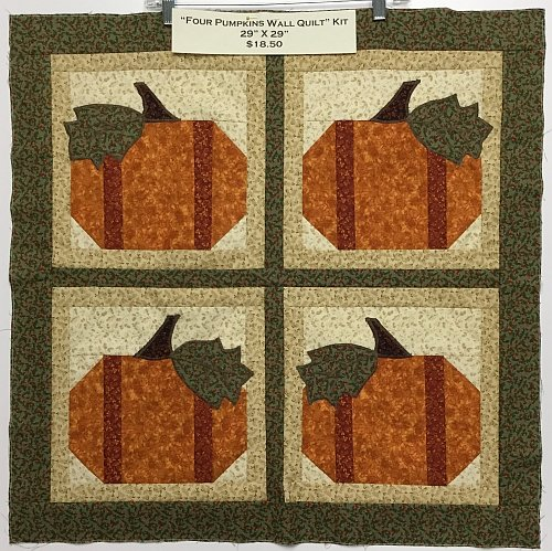 Four Pumpkins Wall Quilt kit