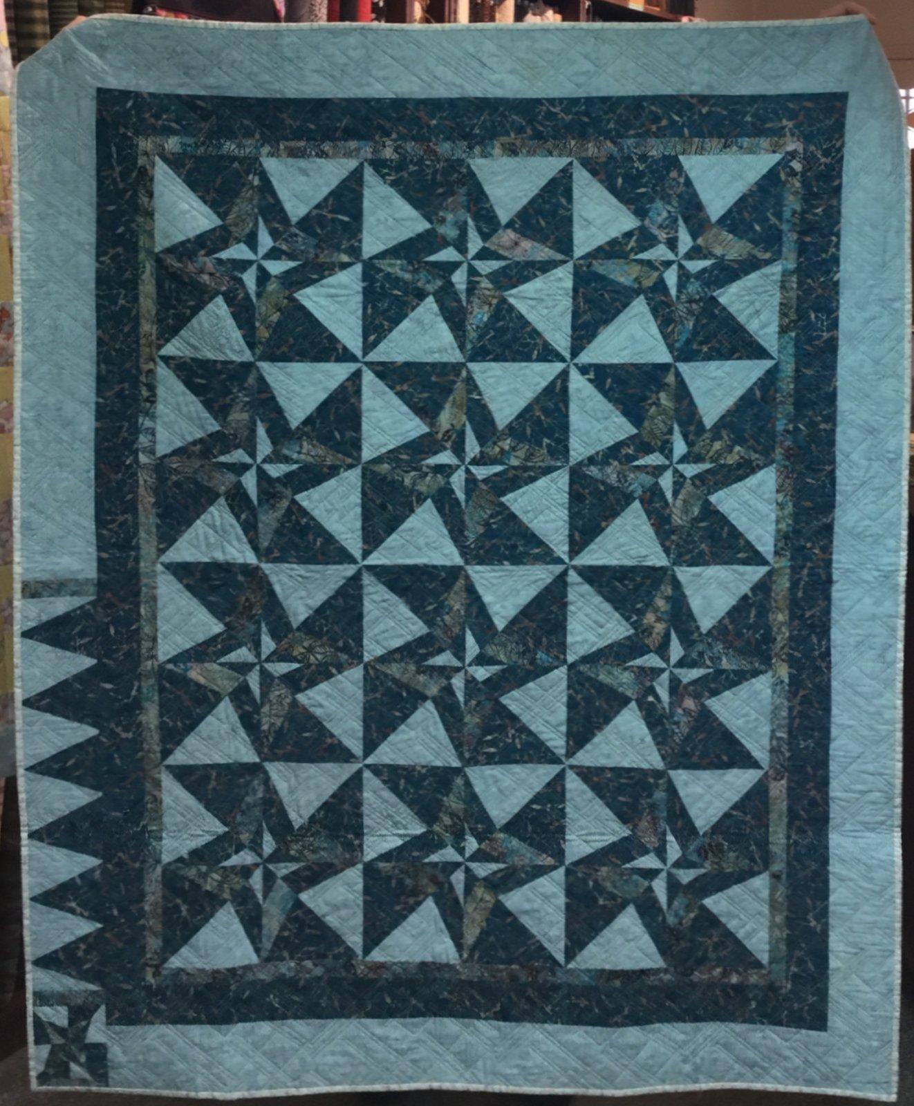 Batik Lap Quilt (62 x 51)