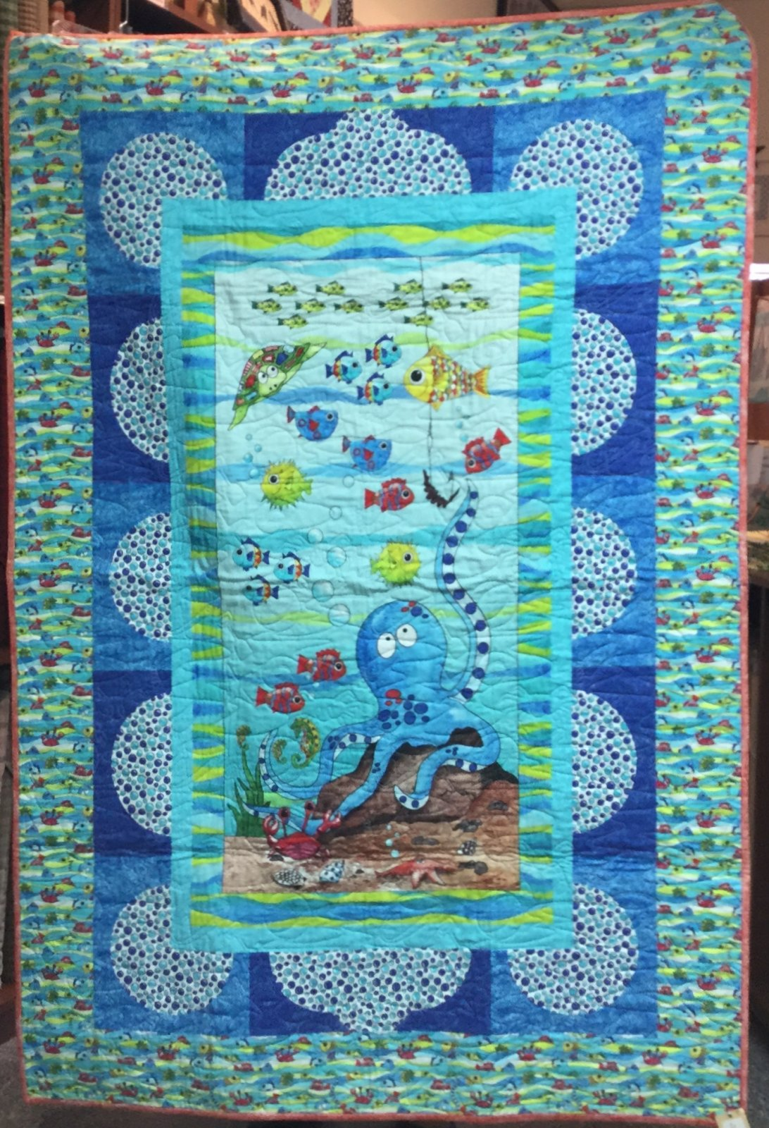 Down by the Sea Quilt (45 x 66)