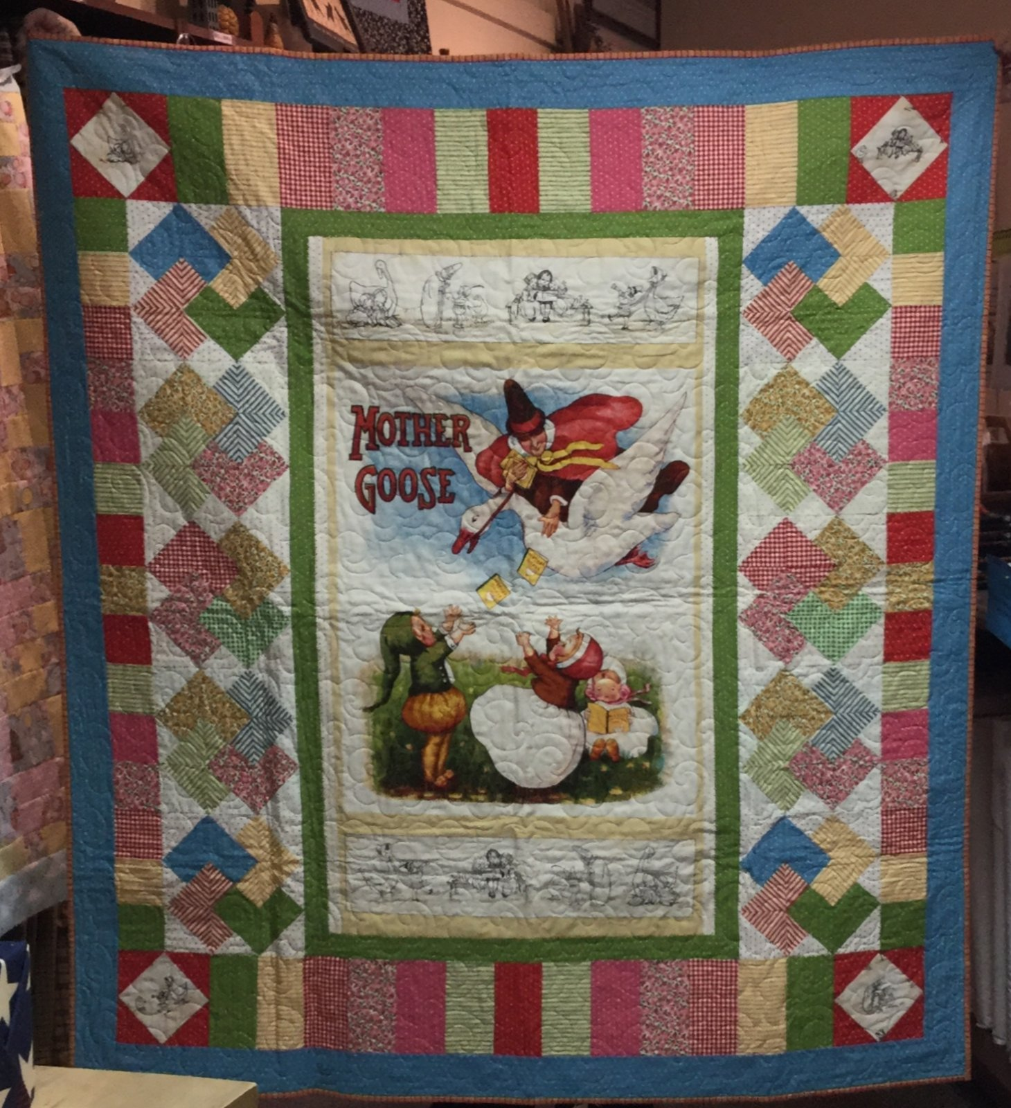 Mother Goose Quilt (56 x 56, includes 2 books)
