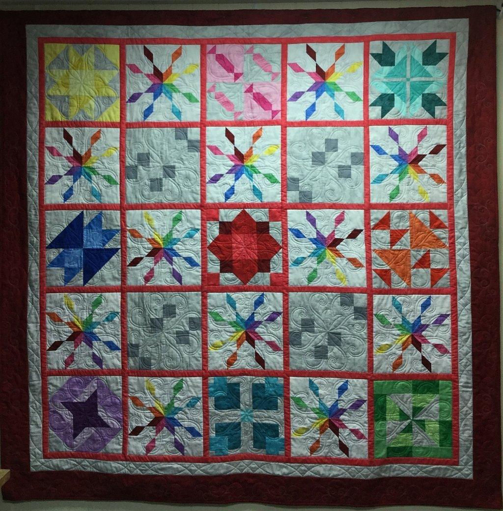 Rainbow Star Quilt (78 x 78)