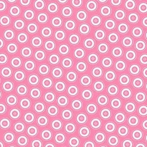 Benartex Dotty Buttons Pink 07595 22