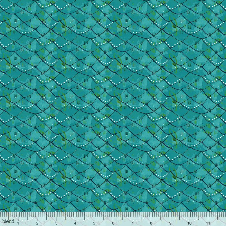 Cori Dantini by Blend Fabrics - Mermaid Days - Scalloped Turquois - 112.115.04.2