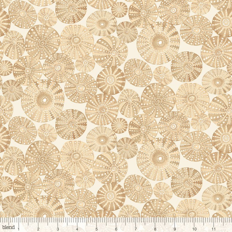Cori Dantini by Blend Fabrics - Mermaid Days - Urchin Garden Tan - 112.115.05.2