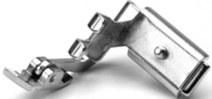 Zipper Foot w/ adjustable hinge, low shank