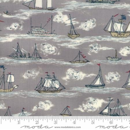 MODA - Ahoy Me Hearties - Pebble - 1432 13