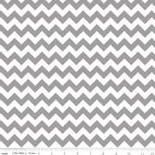 Riley Blake Small Chevron - Gray/White