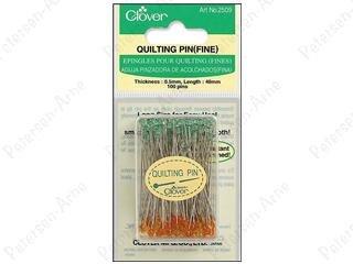 Clover Fine Quilting Pins