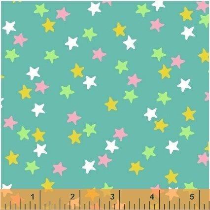 Windham Fabrics - Ahoy Matey: Stars on Green