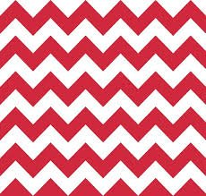 Riley Blake - Medium Chevron - Red, White