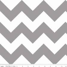 Riley Blake Large Chevron - Gray/White