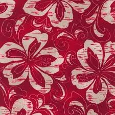 Robert Kaufman - Surf N Sand Tropicals - Red and Khaki