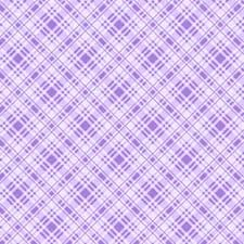 Lakehouse - Diagonal Check: Cornflower Purple Plaid
