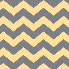 ADORNit Capri Collection - Yellow/Gray Chevron