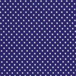 RJR crazy for Dots & Stripes - white dots on navy