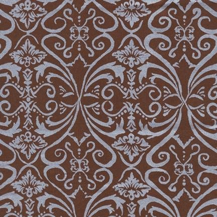 Robert Kaufman Shimmer - Earth (Brown with Silver Metallic)
