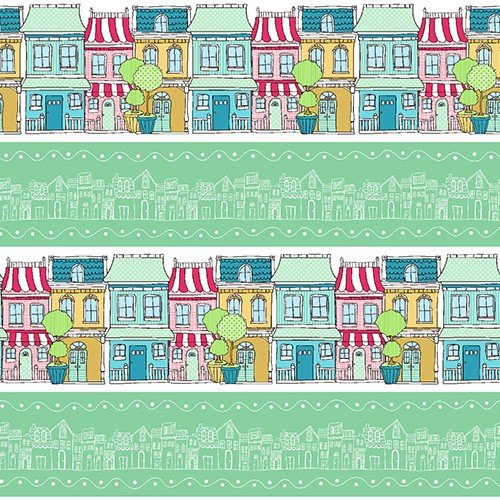 Andover Neighborhood - Green House Border 7313-TG