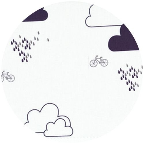 STOF Clouds, Bicycle Fabric - Multi Grey/Blue/White