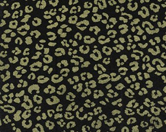 Benartex Kanvas Studios Cheetah: Black/Gold Metallic