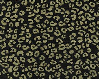 Benartex Kanvas Studios Cheetah: Black/Gold Metallic