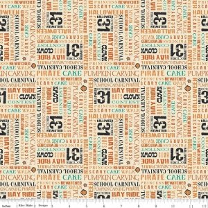 Penny Rose Fabrics Trick or Treat C 5993 Cream