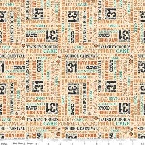 Penny Rose Fabrics Trick or Treat C 5993 Cream