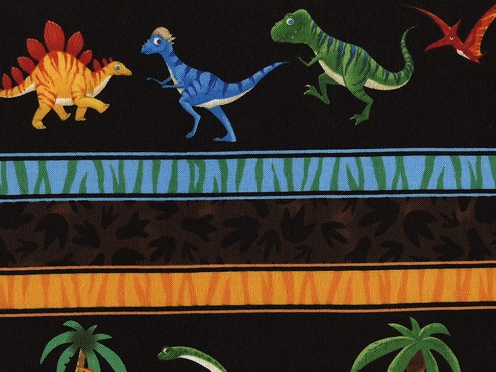 Timeless Treasures Dinosaur Stripe