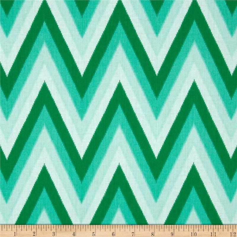 Moda Color Me Happy - Emerald Ikat Chevron