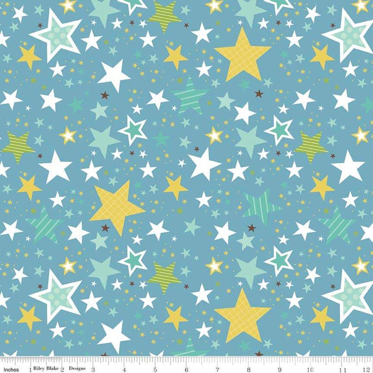 Riley Blake Sweet Baby Boy F8214 dark blue