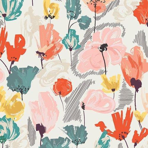 Art Gallery Fabrics - Rapture - Wild Beauty Saffron