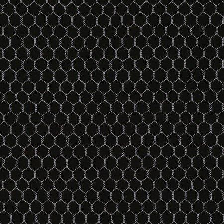 Timeless Treasures Gail - C5606 - Black - Chicken Wire